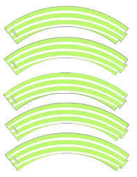 food art party free printable cupcake wrapper in stripes