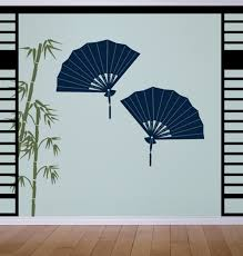 decorative fans asian decorative fans wall decals stickers