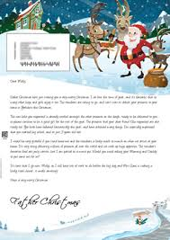 santa claus letters santa letter direct personalised letters from santa claus
