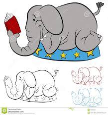 elephant reading a book clipart clipartfest