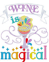 machine embroidery designs for kitchen towels wine is magical machine embroidery designs 4x4 and 5x7