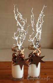 White Decorative Branches Christmas And Winter Decoration Brown Centerpieces With Frosted