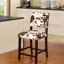 furniture cowhide chairs wood base finish for elegant kitchen