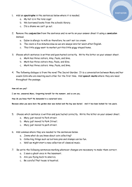 grammar and punctuation worksheet test by avrildcamp teaching