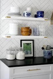 kitchenshelves com what to put on open kitchen shelves video emily a clark