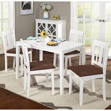5 Piece Dining Room Sets by Simple Living Stratton White 5 Piece Dining Set Free Shipping