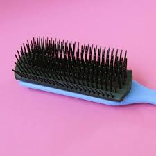 goody s hair goody bristle in rubber brush 9 rows naturals