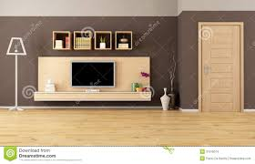 brown living room with led tv stock images image 31316074