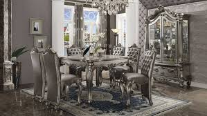 versailles dining room acme versailles counter height dining table set antique platinum