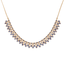 sapphire necklace set images Diamond blue sapphire necklace set rent it rani jpg