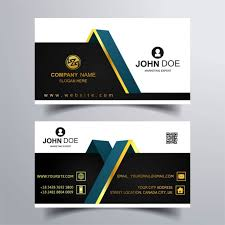 two business cards with gold ornaments vector free