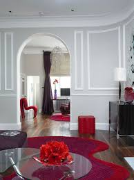 red and grey color scheme houzz
