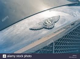 bentley logo bentley logo in car stock photo royalty free image 127038623 alamy