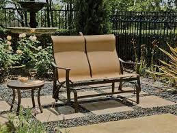 Tropitone Patio Chairs Tropitone Corsica Sling Aluminum High Back Swivel Rocker Lounge