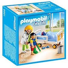chambre d enfant playmobil playmobil 6661 chambre d enfant avec mdecin amazon fr jeux