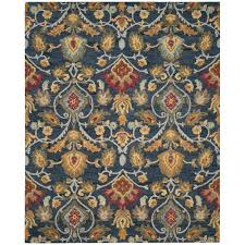 Navy Area Rug Safavieh Blossom Navy Multi 8 Ft X 10 Ft Area Rug Blm402a 8
