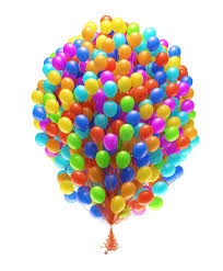 bunch of balloons big bunch of party balloons stock illustration illustration of