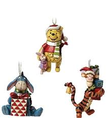 disney traditions pooh eeyore and tigger hanging ornament set of 3