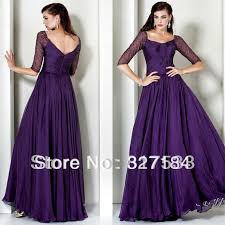 3 4 sleeves modest evening dress off the shoulder mother of the