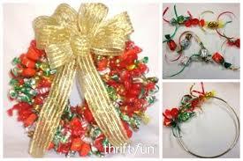 candy wreath a candy wreath thriftyfun