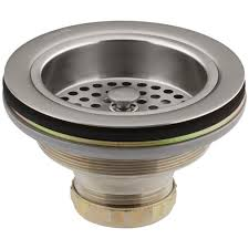 sink strainer in vibrant stainless