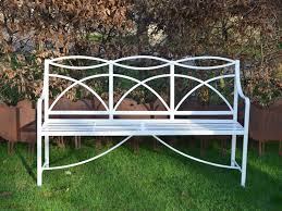 a regency wrought iron garden bench c 1820 england from