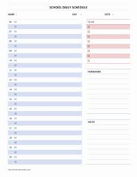 daily schedule template word employee scho saneme