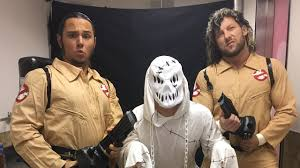 kenny omega and the young bucks celebrate halloween as
