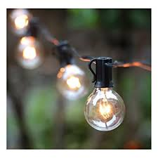 globe string lights indoor 50ft g40 globe string lights with clear bulbs ul listed backyard