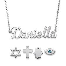 name charm necklace charm name necklace in sterling silver mynamenecklace