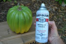 plastic pumpkin rustoleum spray paint at home with the barkers