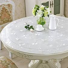 round plastic table top amazon com eco thicken pvc round table protector furniture circle
