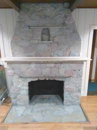 how to white wash your stone fireplace