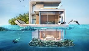 appartement avec une chambre des appartements flottants spectaculaires avec des chambres sous l