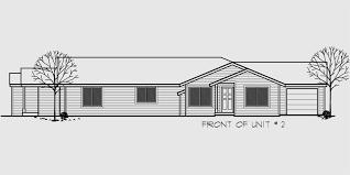 One Level House Plans One Level Duplex House Plan Corner Lot Duplex House Plans D 440