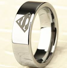 superman wedding band 8mm bridal mens superman silver tungsten engagement ring ceremony