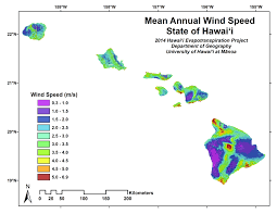 Wind Speed Map Evapotranspiration Of Hawaii Downloads
