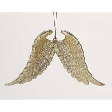 buy pack of 12 gold glittered wing