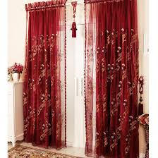 Sheer Maroon Curtains Luxury Flocking Sheer Curtains Sheer Curtains