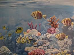 buy a custom coral reef mural made to order from bonnie lecat