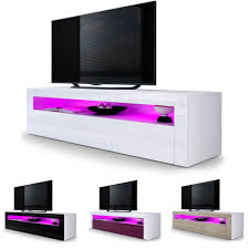 Furniture Tv Unit Details About Tv Unit Stand Sideboard Led Valencia In White High
