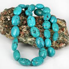 real turquoise stone necklace images Turquoise rosary necklace blue stone rosary style 925 sterling jpg