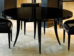 Black Wood Dining Room Table by Nella Vetrina Sabre Modern Italian Round Black Wood Dining Table