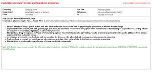 Ksa Resume Examples by Pharmacologist Job Title Docs