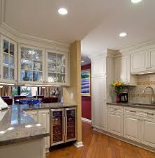 Traditional Double Sided Kitchen What Are The Double Sided Glass Cabinets Above The Island