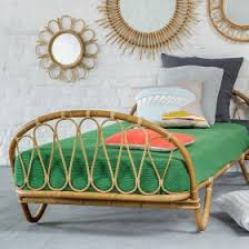 chambre en osier meuble rotin vintage neuf réédité kok maison