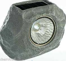 2 pack solar led rock garden lights outdoor decorative stone spot
