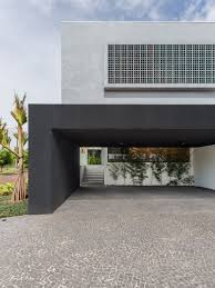 Open Carport by The Kitchen In This Modern House Is Completely Open To The Pool