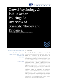 crowd psychology u0026 public order policing an overview of