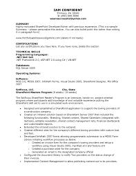 Sql Server Developer Resume Examples by Kleimeyer Sharepoint Resume